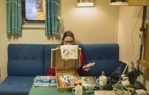 At sea artist Anneli Skaar