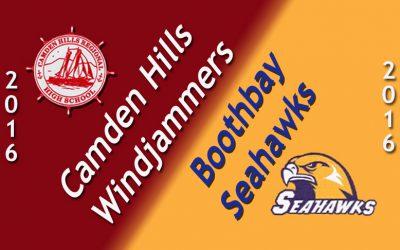 Camden Hills football at Boothbay Region HS  9.9.16