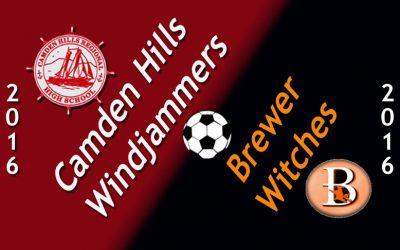 Camden Hills Boys Soccer vs. Brewer 9/16/16