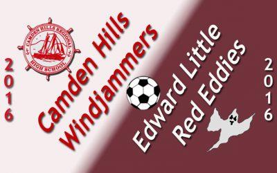 Camden Hills Boys Soccer vs. Edward Little 9/23/16
