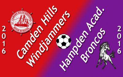 Camden Hills Girls Soccer vs. Hampden Academy 9.27.16