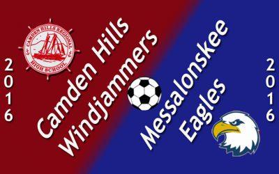 Maine Class A Boys Soccer: Camden Hills vs. Messalonskee 9/13/16