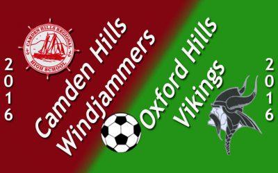 Maine Class A North Girls Soccer: Camden Hills vs. Oxford Hills 9.10.16