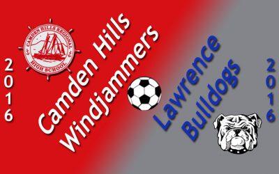 Camden Hills Boys soccer vs. Lawrence, 10/8/16. WATCH NOW.