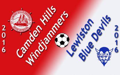 Camden Hills Boys Soccer vs. Lewiston 9/30/16
