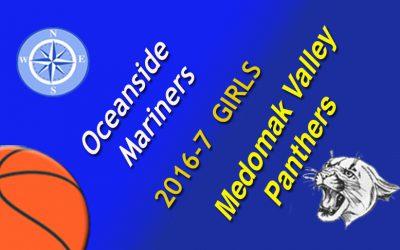 Oceanside Girls Basketball vs. Medomak Valley, January 27, 2017
