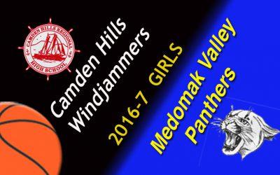 Camden Hills Girls Basketball vs. Medomak Valley, 1/25/17