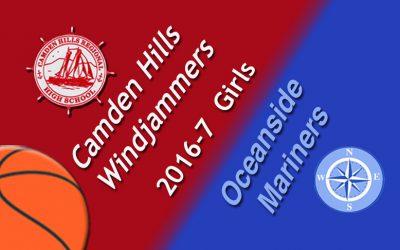 Camden Hills Girls Basketball game vs. Oceanside , January 16, 2017