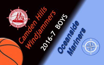 Camden Hills Boys Basketball vs. Oceanside, February 4, 2017
