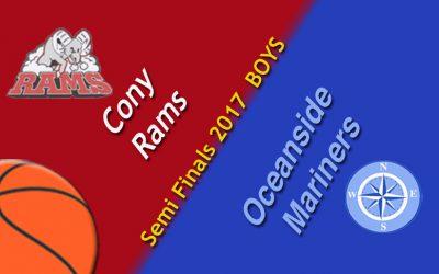 Oceanside Boys Basketball vs. Cony ; Class A North Semi-Final game 2/22/17