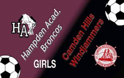 Camden Hills Girls Soccer  Homecoming Game vs. Hampden 9/29/18