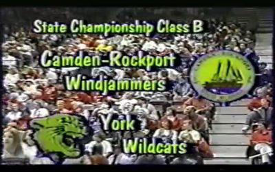 Vintage Basketball Game # 26 : Class B Boys State Championship 1999 Camden-Rockport vs. York
