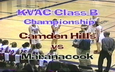 Girls Basketball KVAC Championship 2003: Camden Hills vs. Maranacook  Vintage Game # 37