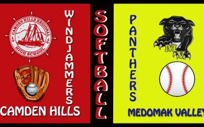 Maine High School Softball : Medomak Valley vs. Camden Hills 5/17/2021