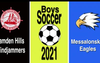 Maine Class A Boys Soccer : Camden Hills vs Messalonskee 10/12/21.
